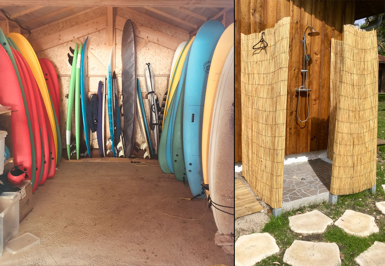 local-technique-douche-exterieure-nature-surf-camp-messanges