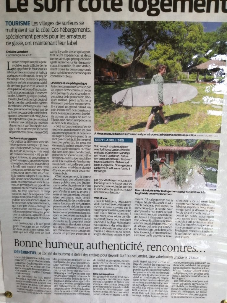sud-ouest-article-nature-surf-camp-label-surf-house-landes